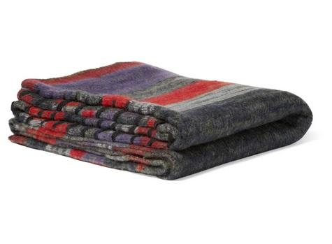 The Elder Statesman Striped Cashmere Blanket