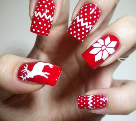holiday sweater nails « shefinds