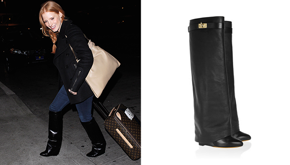 jessica chastain wedge boots hoof boots givenchy wedge boots