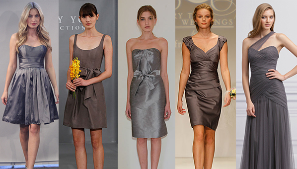 Gray Bridesmaid Dresses | Bridesmaid Dress Trend 2013 « SHEfinds