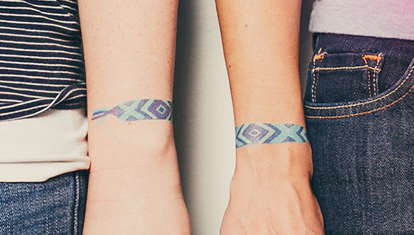 Friendship Temporary Tattoo Friendship Bracelet Arm Party