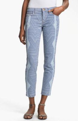 Mary Katrantzou Current Elliott The Printed Stiletto Jeans