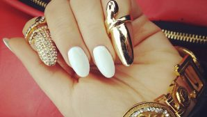 This Nail Trend Is Really Tough--Literally! Shop Fingernail Rings Now.