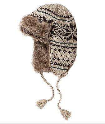 e3268b860d4917 Urban Pipeline Snowflake Knit Trapper Cap ($11.20 was $28)
