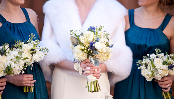 fur bridal accessories