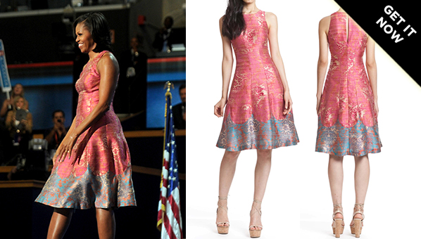 When The Political Climate Was A Little Less Charged Okay Maybe Not I Blame You Fiscal Cliff Michelle Wore This Pink Patterned Tracy Reese