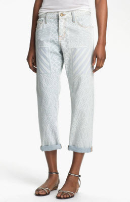 Mary Katrantzou Current/Elliott 'The Boyfriend' Print Jeans