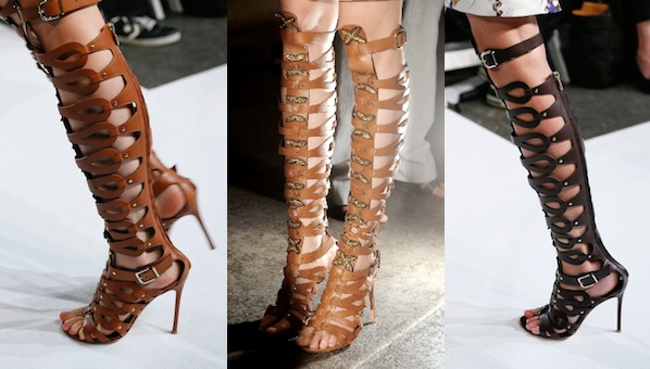 ec9c5bc6522 Even The Haters Will Be Wearing The Knee-High Gladiator Sandal Trend This  Spring