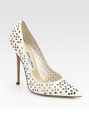 Jimmy Choo Anouk Perforated Leather Pumps