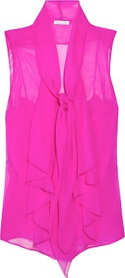 Pink Tie Neck Blouse 96