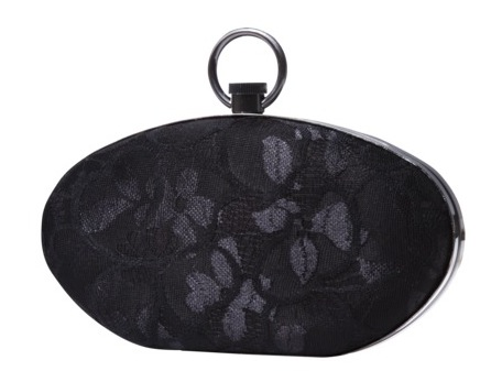 Prabal Gurung for Target Black Lace Hard Sided Clutch