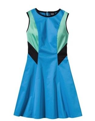 Prabal Gurung for Target Colorblock Dress in Dresden Blue