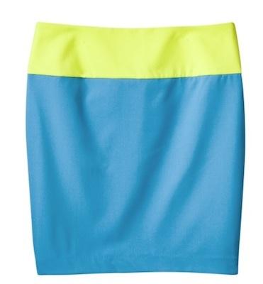 Prabal Gurung for Target Colorblock Pencil Skirt in Dresden Blue