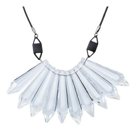 Prabal Gurung for Target  Crystal Teardrop Bib Necklace