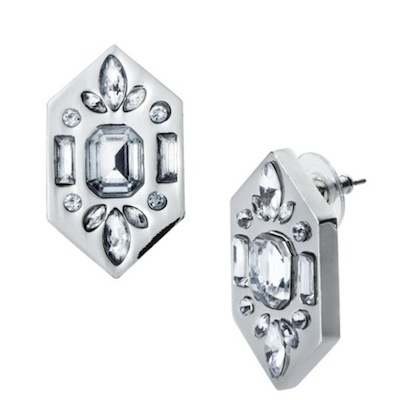 Prabal Gurung for Target Diamond Shape Earrings with Stones