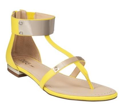 Prabal Gurung for Target Flat Sandal in Blazing Yellow