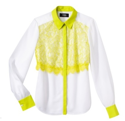 Prabal Gurung for Target Lace-Front Blouse