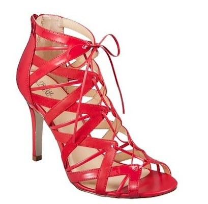 Prabal Gurung for Target Lace-Up Pump Apple Red