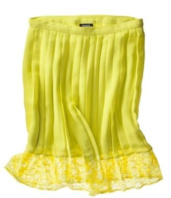 Prabal Gurung for Target Pleated Skirt in Sulphur