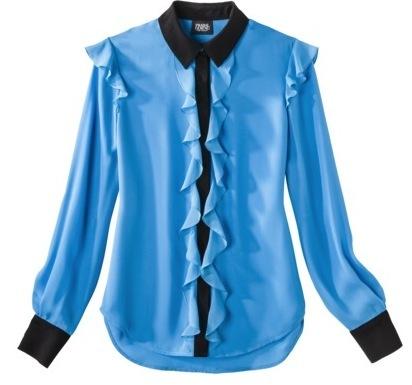 Prabal Gurung for Target Ruffle Front Long Sleeve Blouse