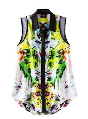 Prabal Gurung for Target Sleeveless Blouse in First Date Print