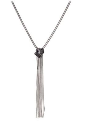 Prabal Gurung for Target Snake Chain Tassel Necklace in Jet