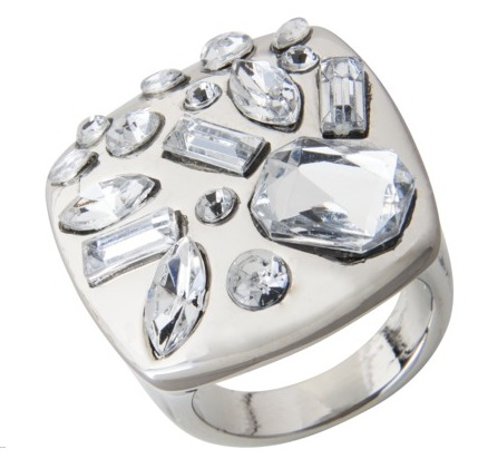 Prabal Gurung for Target Square Ring with Silver Stones