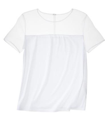 Prabal Gurung for Target Tee Shirt with Sheer Shoulders