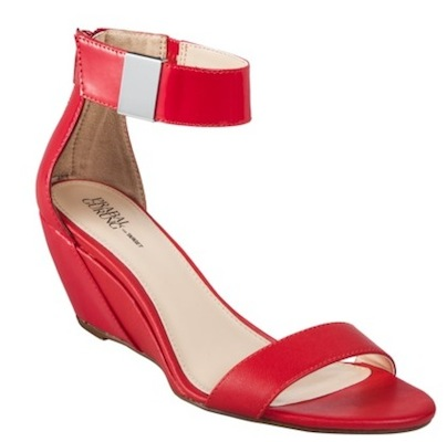 Prabal Gurung for Target Wedge Sandal With Ankle Strap in Apple Red