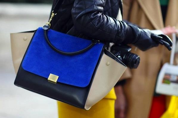 replica celine luggage tote - Celine Trapeze Bag | Colorblock Bags | Handbag Trends 2013