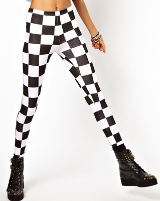 ASOS Legging in Checkerboard Print