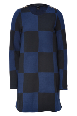 Marc By Marc Jacobs New Prussian Blue Multicolored Checkered Dress