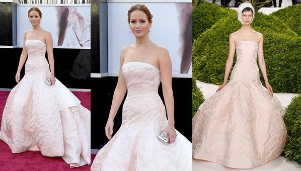 Jennifer Lawrence Dior Oscars 2013 | Jennifer Lawrence Oscars Dress 2013