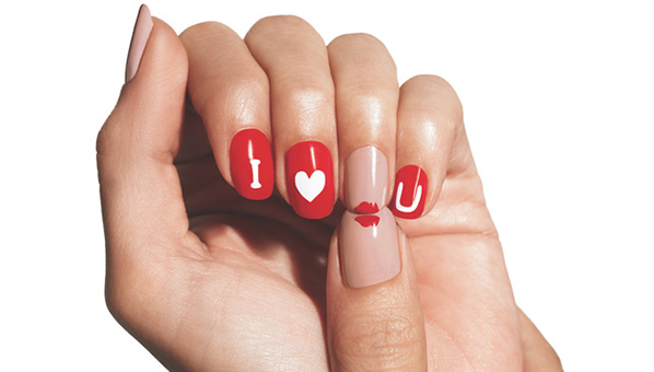 Valentines day nail art valentines day polish sweethearts nail art whether youre single and ready to mingle or are dragging around an old ball and chain doing your nails for v day is a must obviously a pale pink is prinsesfo Images