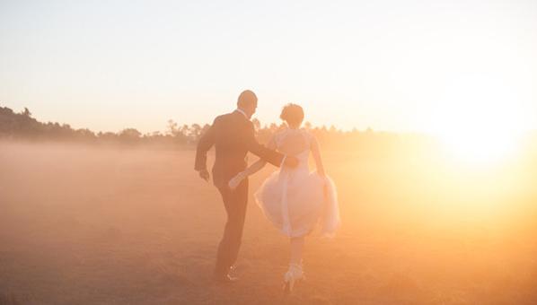 Between wedding ceremony and reception