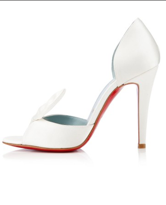timeless design 1e3d7 4e84b Christian Louboutin Livrée Satin Bridal Pump - SHEfinds