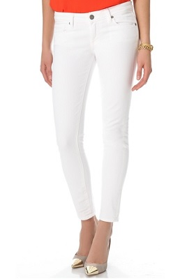 best white denim jeans - Jean Yu Beauty