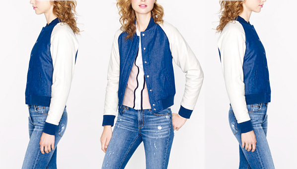 Denim Bomber Jackets | JCrew Collection Denim Bomber Jacket