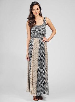 Rosario Dawson Maxi Dress | Ella Moss Sun Tile Maxi Dress