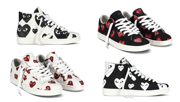 b7b386d07e0e Comme des Garçons has teamed up with Converse Pro Leather to create what  might be the coolest sneaker collection ever. The new collab features 4  all-leather ...