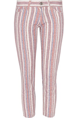ÉTOILE ISABEL MARANT Cooper printed stretch-cotton skinny jeans
