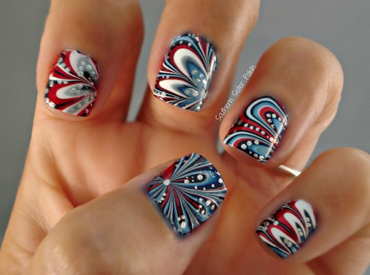 Orly Patriotic Nail Art