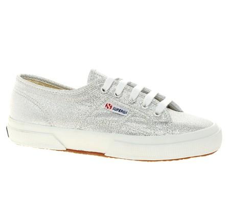 Superga Classic Lamew Silver Sneakers 171 Shefinds