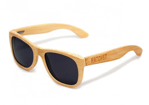 vancouver natural bamboo classic wooden wood sunglasses hatchet eyewear - Wood Frame Sunglasses