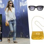 691be73039e Jessica Biel Yellow Bag