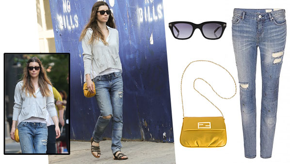 8ab67e20ce8 Consider Us Convinced--Jessica Biel Makes A Pretty Good Case For Distressed  Denim