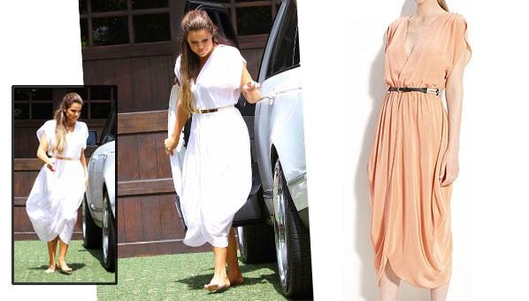 khloe kardashian white dress myne heidi dress kim kardashian