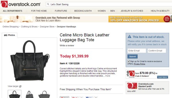 The Only Place You Can Buy Cйline Bags Online Is& Overstock.com