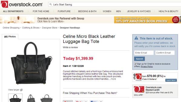 Shop Celine Bags Online | Shop Celine Trapeze | Celine Overstock.com