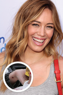 Celebrity tattoos celebrities with tattoos shefinds for Hilary duff tattoos